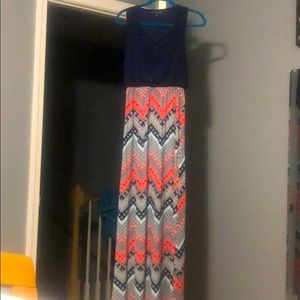 Three Pink Hearts Maxi Dress - Never Worn
